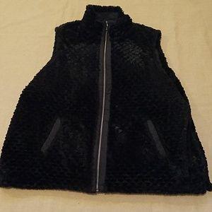 EUC Reversible Faux Fur Kim Rogers vest sz 3X